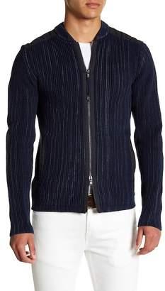 John Varvatos Collection Full Cardigan Zip Front Jacket