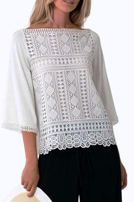 Hale Bob Naoko Crocheted Lace Blouse