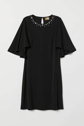 H&M Butterfly-sleeved Dress - Black