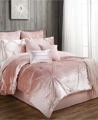 Hallmart Collectibles Sherrie 10-Pc. Velvet Queen Comforter Set Bedding