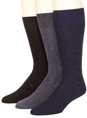 STAFFORD Stafford 3-pk. Mens Rayon from Bamboo Crew Socks