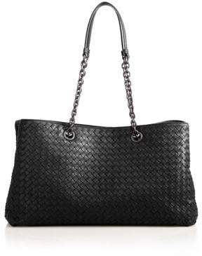 Bottega Veneta Intrecciato Leather Top-Handle Bag