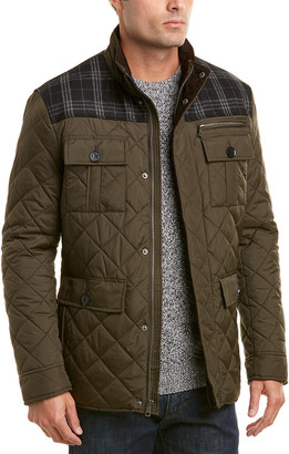 Cole Haan Essential Quilted Jacket With Wool-Blend Trim