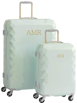 Pottery Barn Teen Luxe Hard-Sided Mint Luggage Bundle, Set of 2