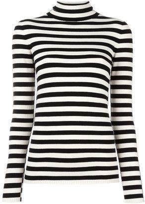 Twin-Set mock neck striped jumper $124.16 thestylecure.com