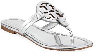 Tory Burch Miller Metallic Flat Slide Sandals