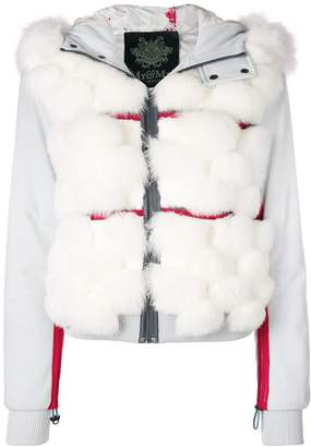 Mr & Mrs Italy fox fur panelled bomber jacket
