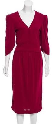 Fendi Ruched-Accented Midi Dress