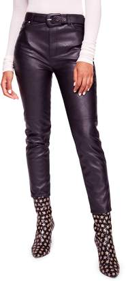 Free People Belted Faux Leather Skinny Pants
