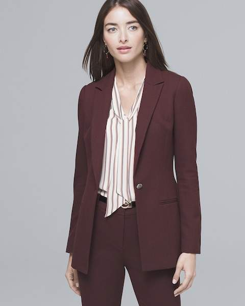 Whbm Luxe Suiting Longline Jacket