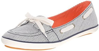 Keds Women's Teacup Boat Railroad Stripe Fashion Sneaker $50 thestylecure.com
