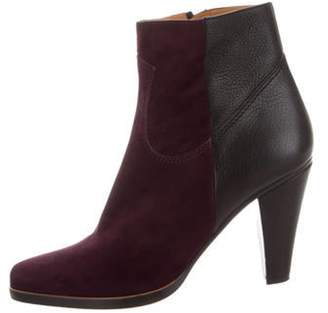 Chloé Pointed-Toe Suede Ankle Boots black Chloé Pointed-Toe Suede Ankle Boots