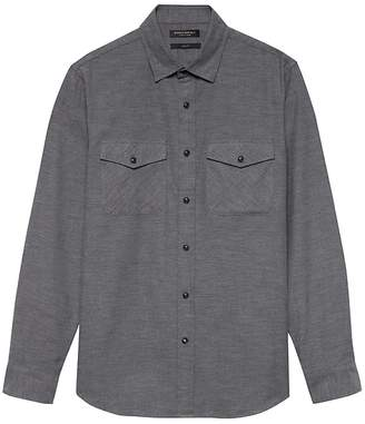 Banana Republic Grant Slim-Fit Luxe Flannel Solid Shirt