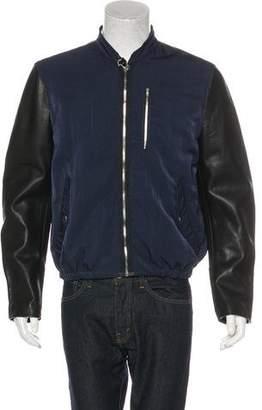Acne Studios Brando 2-Tone Leather Jacket