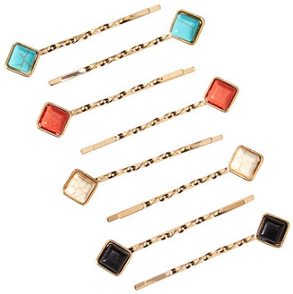 Natasha Accessories Rhinestone Accented Twist Bobby Pin Set - Set of 8 $14.97 thestylecure.com