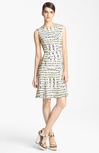 Erdem Trompe l'Oeil Full Skirt Dress