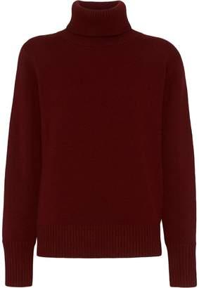 Burberry Archive Logo Appliqué Cashmere Roll-neck Sweater