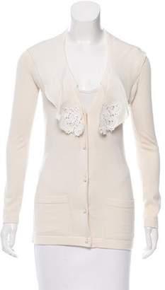Oscar de la Renta Cashmere & Silk-Blend Knit Cardigan