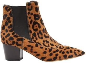 Tabitha Simmons Pony-style calfskin cowboy boots