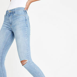River Island Light blue Molly ripped jeggings