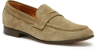 Frye Men's Aiden Suede Penny Loafer, Gray