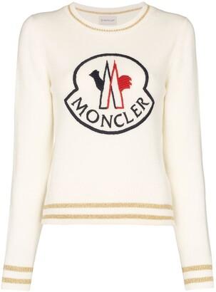 Moncler logo-embroidered jumper