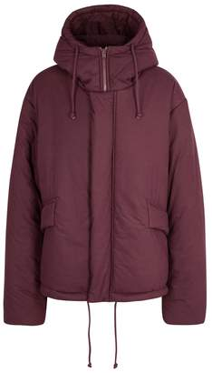 Yeezy Season 5 SEASON 5 Burgundy Oversized Brushed Cotton Jacket