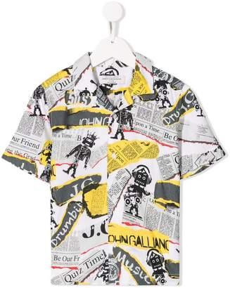 John Galliano newspaper printed shirt