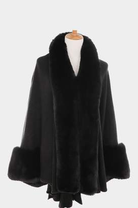 Embellish Faux Fur Cape