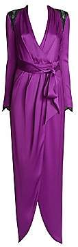 Ralph and Russo Ralph and Russo Women's Embellished Silk Satin Wrap Gown