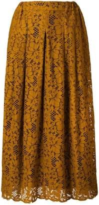 Roseanna lace pleated skirt