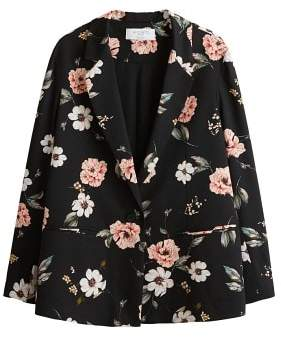 Violeta BY MANGO Floral print blazer