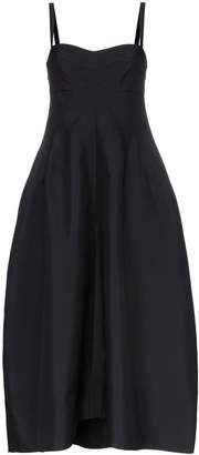 Jil Sander ginestra twill bustier dress