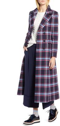 Halogen x Atlantic-Pacific Long Plaid Coat