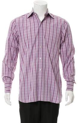 Tom Ford Plaid Button-Up Shirt