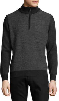 Bugatti Half-Zip Wool-Blend Sweater