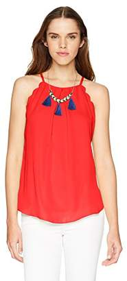 Amy Byer A. Byer Scalloped Edge Top (Junior's)