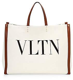 Valentino Women's Large VLTN Canvas Tote