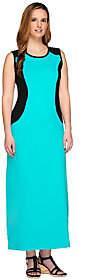 Denim & Co. Color-Block Sleeveless Scoop NeckMaxi Dress