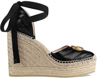 Gucci Leather platform espadrille
