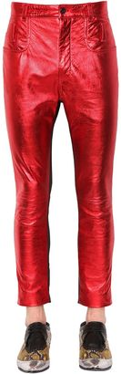 Skinny Metallic Leather & Suede Pants $3,108 thestylecure.com