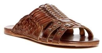 Bed|Stu Diaz Woven Leather Sandal $135 thestylecure.com