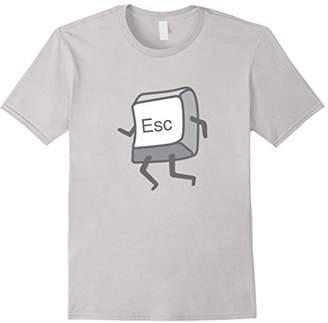 Nerd Programmer Escape Button Funny Graphic T-Shirt
