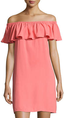 Catherine Malandrino Off-the-Shoulder Shift Dress