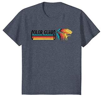 Retro 70s 80s Style COLOR GUARD Marching Band Rainbow TShirt