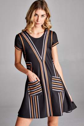 Laurèl Racine Print Mini-Dress