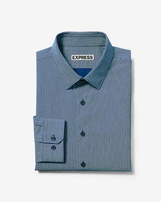 Express Slim Small Dot Print Dress Shirt