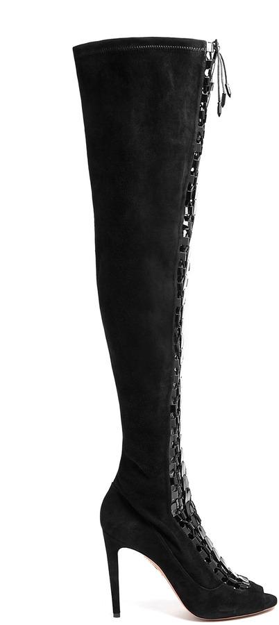 Aquazzura High Heel Hard Rock High Heel Sandal Boot