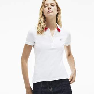 95865807e Lacoste Women s Slim Fit Stretch Pique Polo