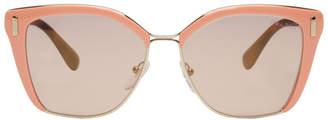 Prada Pink Partial Thick Rim Sunglasses